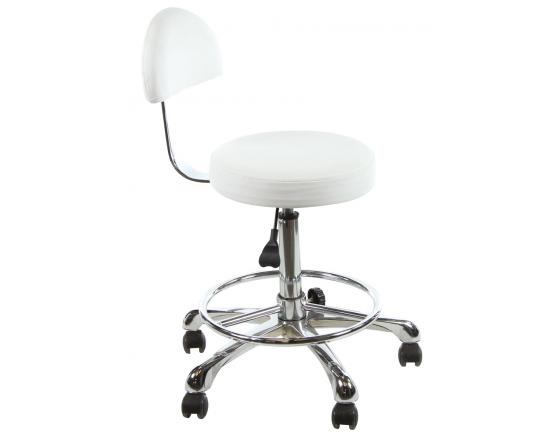 Tabouret pour table de massage avec dossier